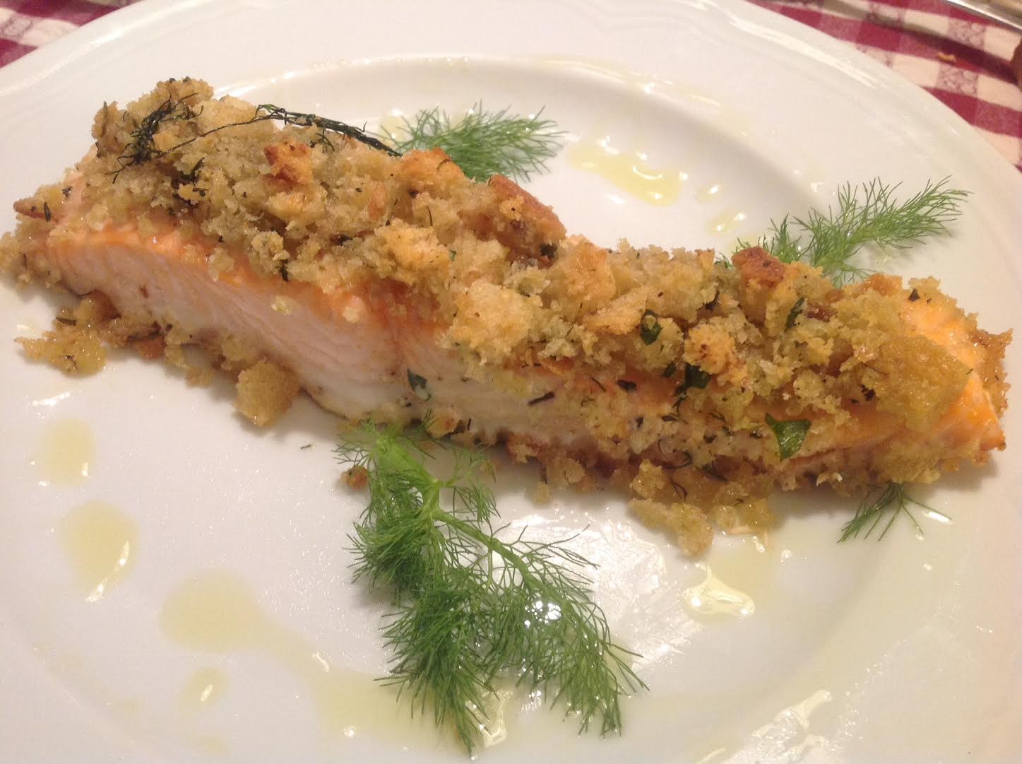 salmone croccante – crispy salmon