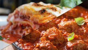 Half Lasagna Half Meatballs